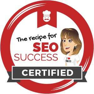 Certified for The Recipe for SEO success